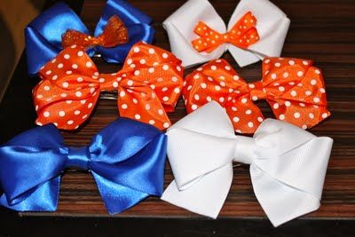 Devon Alana Design: Game Day Bows!