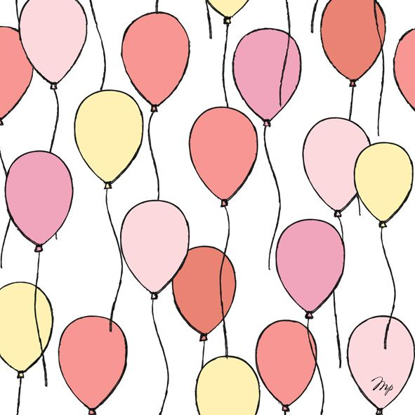 ballooons pattern fashion illustration