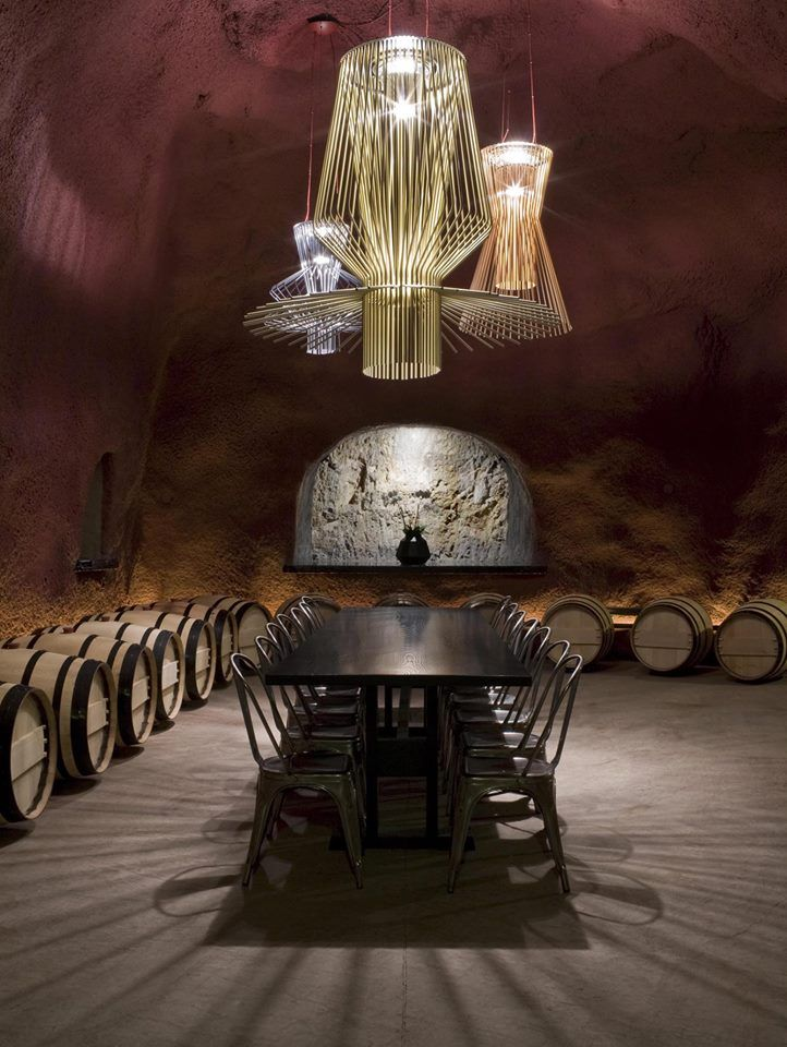 Allegro Suspension Lamps at Merus Winery in Napa Valley, CA. Interiors by UXUS Design. Photo by Dim Balsem.