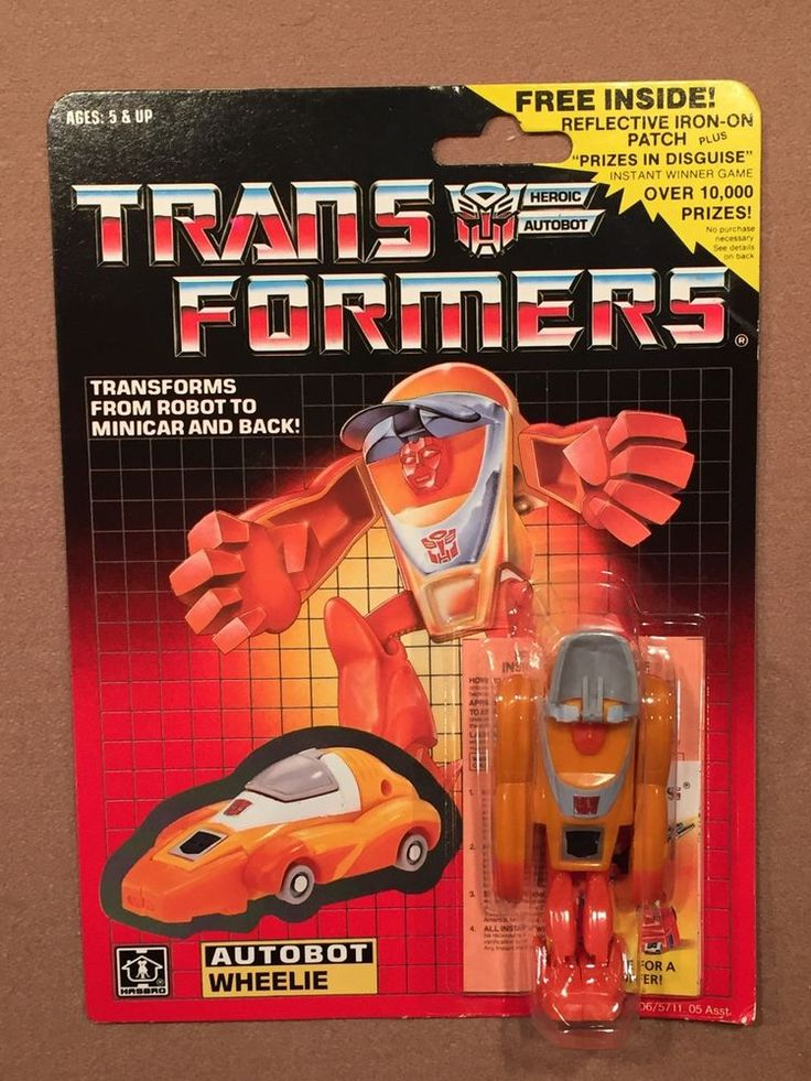 1986 Hasbro TRANSFORMERS G1 MOSC Wheelie with Patch PERFECT AFA Ready !! #Hasbro