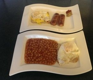 Full English Breakfast (missing the bacon of course...)