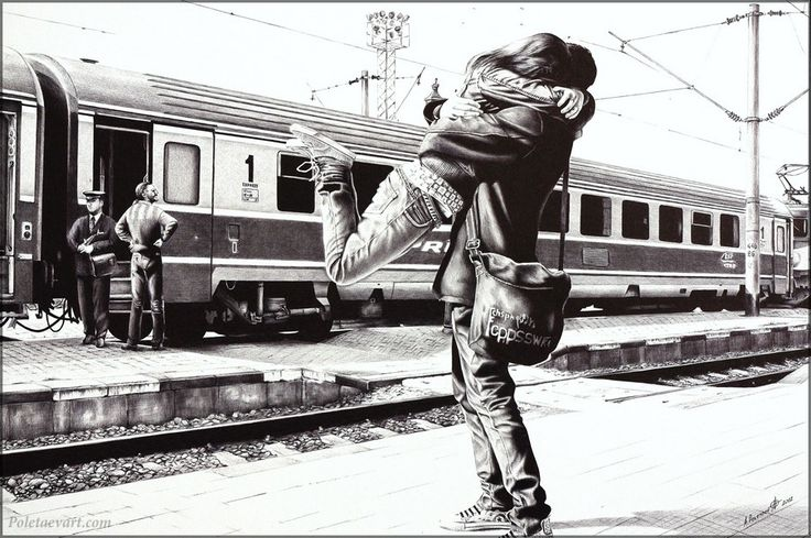 Sparkle at the train station -2012 - 55 x 37 cm (private collection in the United States).Print of this artwork is available.