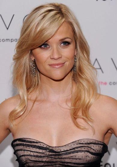 Hair - length, color, style.: Reese Witherspoon, Hair Colors, Long Bangs, Long Hair, Long Side, Hair Cut, Side Bangs, Hair Bangs, Hair Style