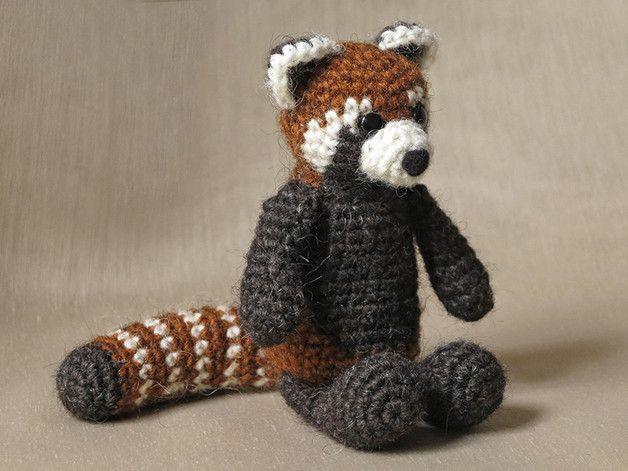 Handleiding haken - Haakpatroon rode panda - Een uniek product van SonsPopkes op DaWanda