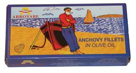 """The anchovy, a traditional food of the Basque Country, is a mainstay of this region's fishing economy. The Spanish name """"boqueron"""" comes from the size of the anchovy's mouth or boca, which is large in proportion to the rest of the body. Anchovies are typically harvested in the spring when they accumulate the most fat and flavor. Small nets are used to protect the quality of the fish and reduce by-catch. Once caught they are gutted, placed in barrels with salt-layer separations and weighted…"""