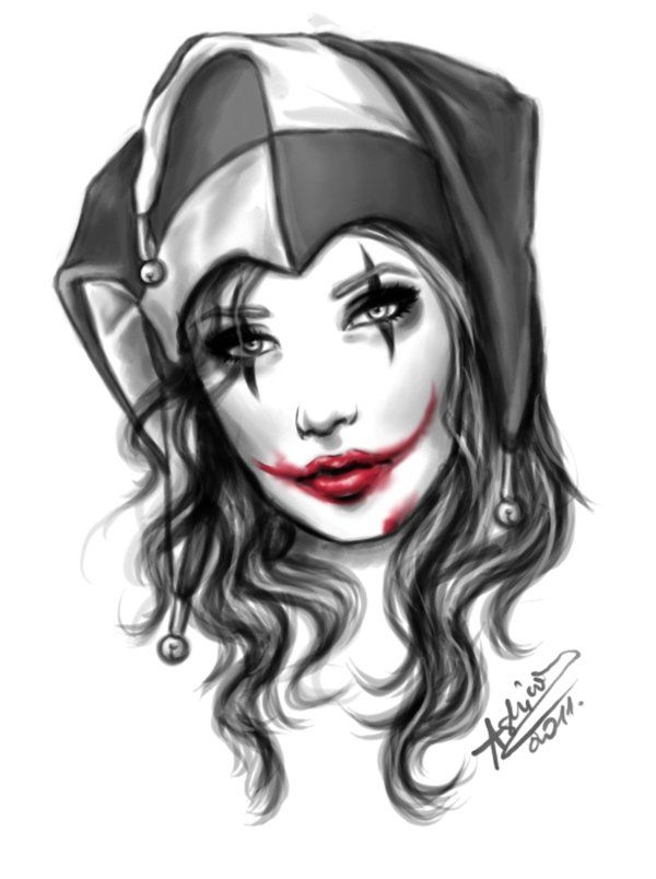 Joker girl by ~Ashiwa666 on deviantART
