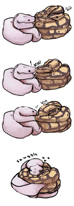 after looking at this picture: http://danielle-darling.tumblr.com/post/2949908166  this little drawing came of snakes smooch.. :I
