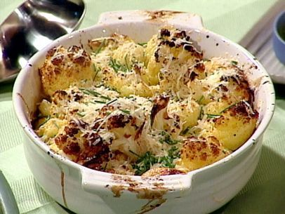 Oven-Roasted Cauliflower with Garlic, Olive Oil and Lemon Juice Recipe : Emeril Lagasse : Food Network