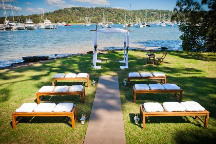 How cute are these bench seats for the #wedding #ceremony