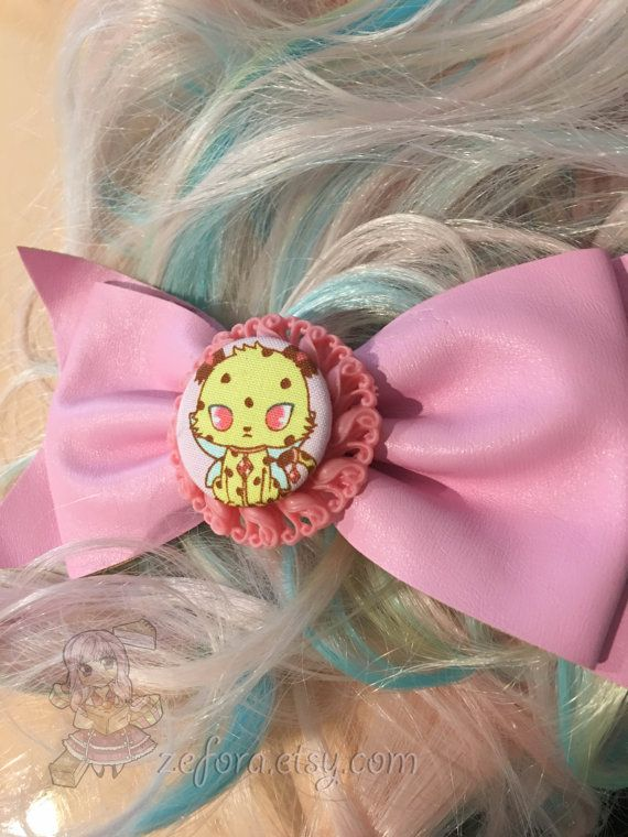 Big Jewelpets Jasper Cheetah Pink Fake Leather Fairy Kei by zefora