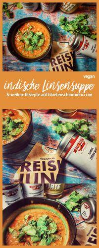Indische Linsensuppe - lecker & vegan! Das Rezept findest Du auf www.bluetenschimmern.com | #rezept #linsensuppe #indisch #vegetarisch #vegan #schnell #einfach #rote #Linsen #kokosmilch #gesund #mit #vegane #abnehmen #kalorienarm #scharfe #orientalische
