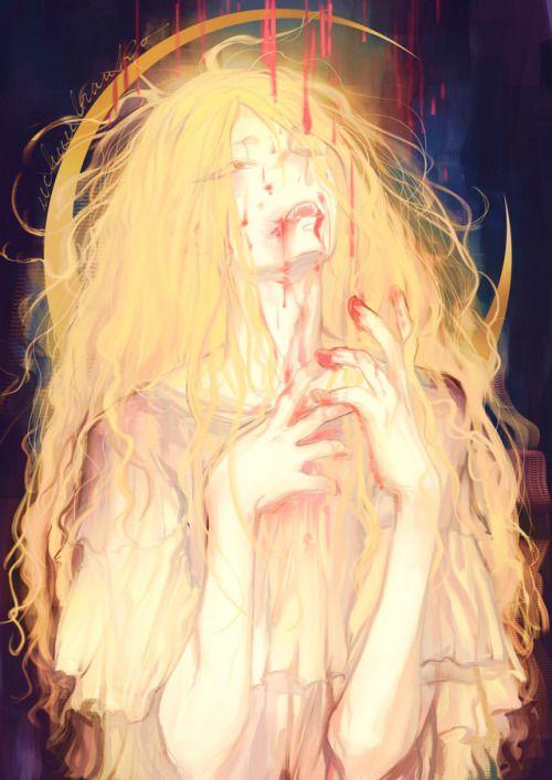 Znalezione obrazy dla zapytania light hair anime girl