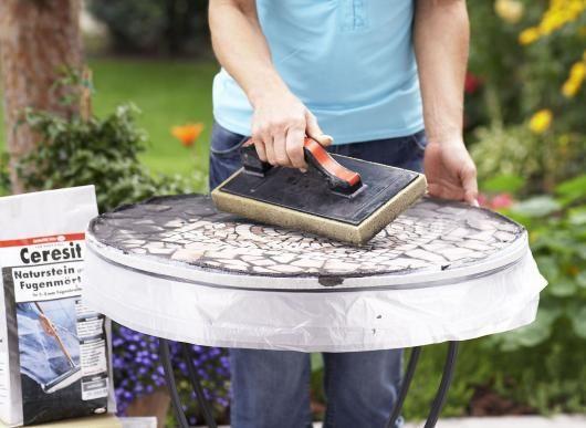 Mosaik Tisch selbst gestalten & bauen