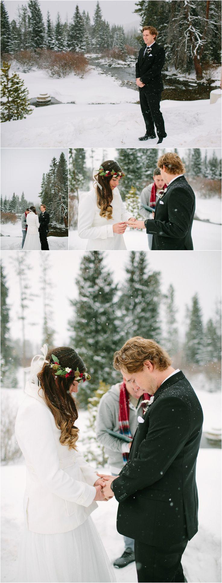 Winter wedding elopement in beautiful Breckenridge Colorado