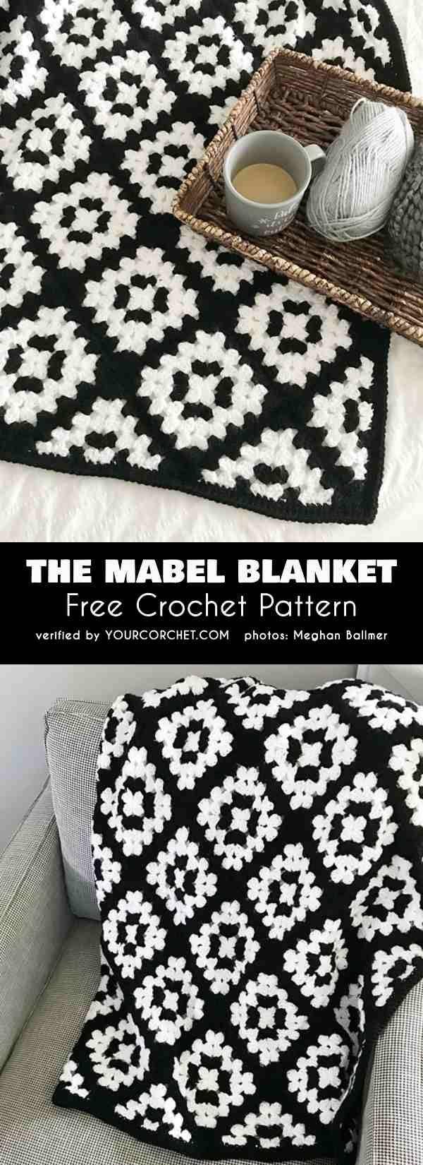 Die Mabel Decke Easy Granny Square Tutorial Free Crochet Pattern Granny Square ….