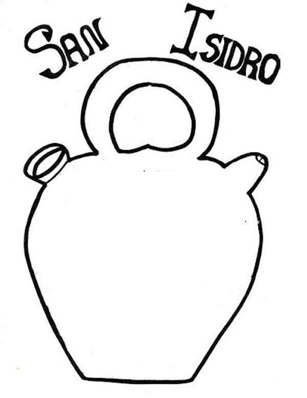 Botijo - Dibujos para colorear e imprimir San Isidro, Madrid, Chulapos, Verbena