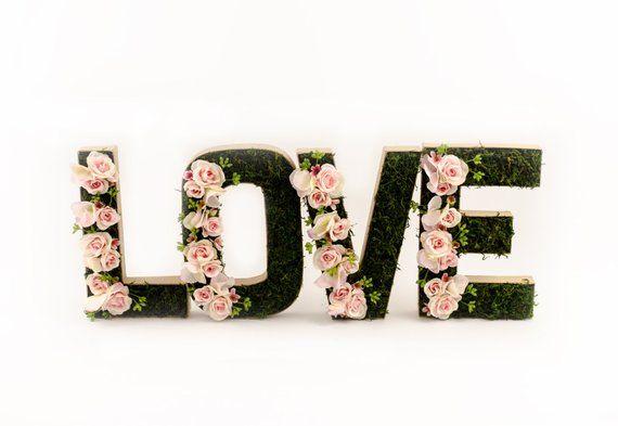 8 Mini Rosa Y Musgo Flor Letrael Amor Nuestro Precioso Musgo Y Capullo De Rosa Mini Rosa Flor Letra Conjunto Esta Hecho Flores De Cera Letra De Amor Hortensia