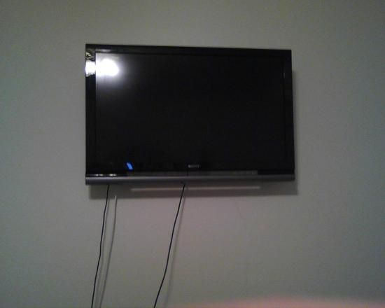 Mounted our flat screen and hid the wires in the drywall. Cost: $500.00 #diditmyself