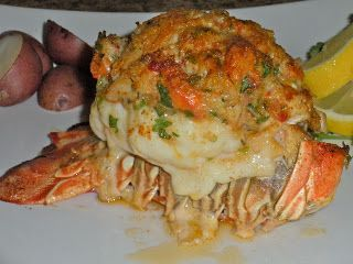Chef JD's Cuisine & Travel Website Turnstile : Crab Stuffed Lobster Tail