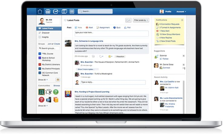 Collaboration tool for teachers and students - like facebook for classrooms