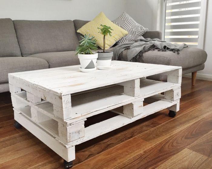 1001 Idees Brico Pour Realiser Une Table Basse En Palette Table Basse Palette Table Palette Table Basse