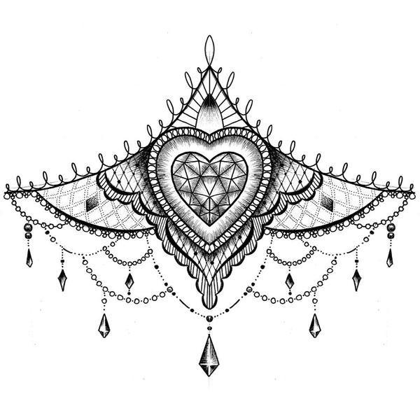 sternum tattoo designs - Pesquisa Google                                                                                                                                                      Más