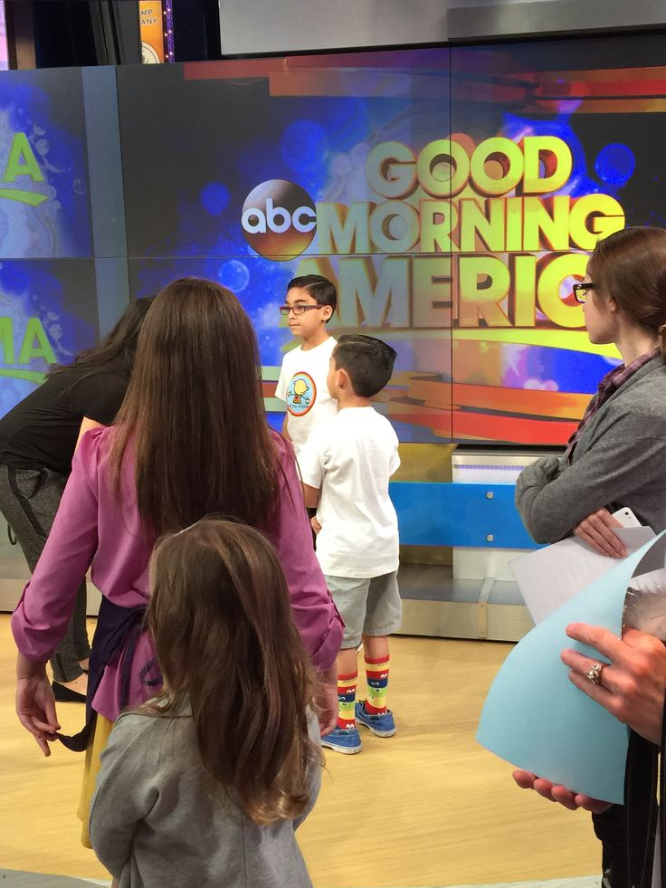 On set getting ready for Good Morning America Shark Tank Your Life segment with Daymond John