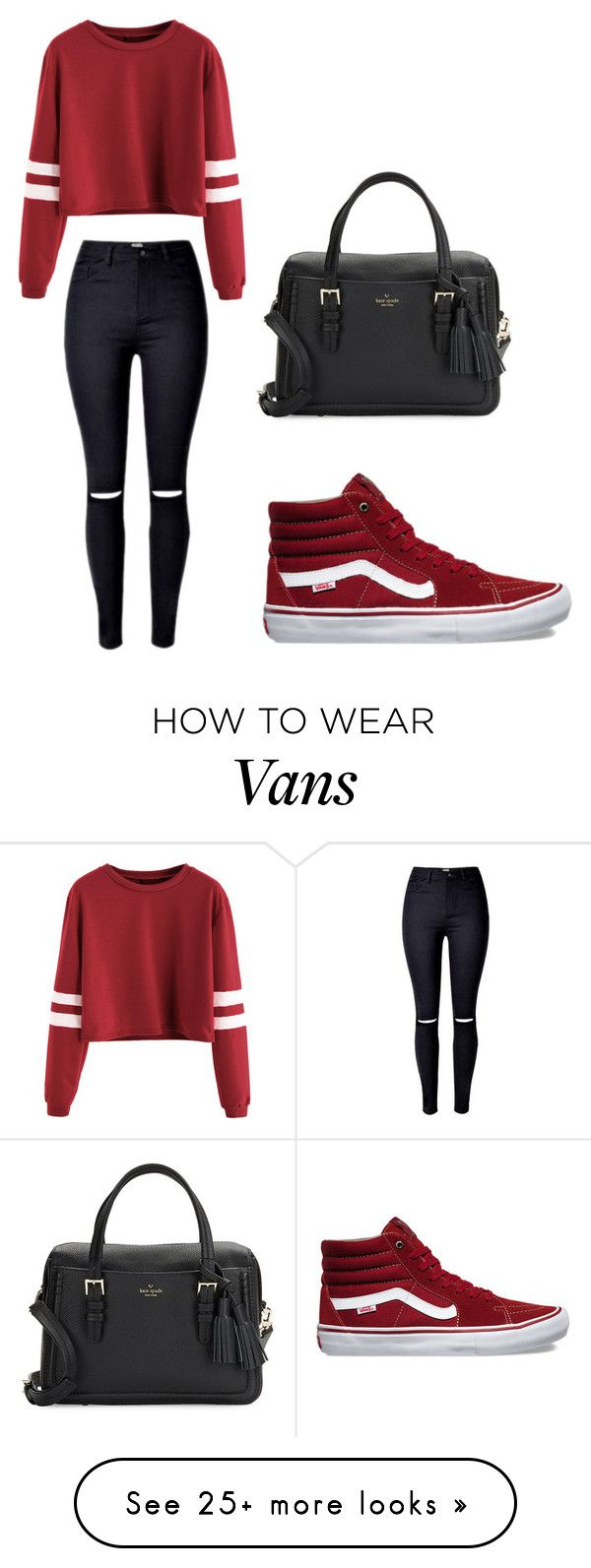 """i gotta have"" by iluvfashi0n on Polyvore featuring Vans and Kate Spade"