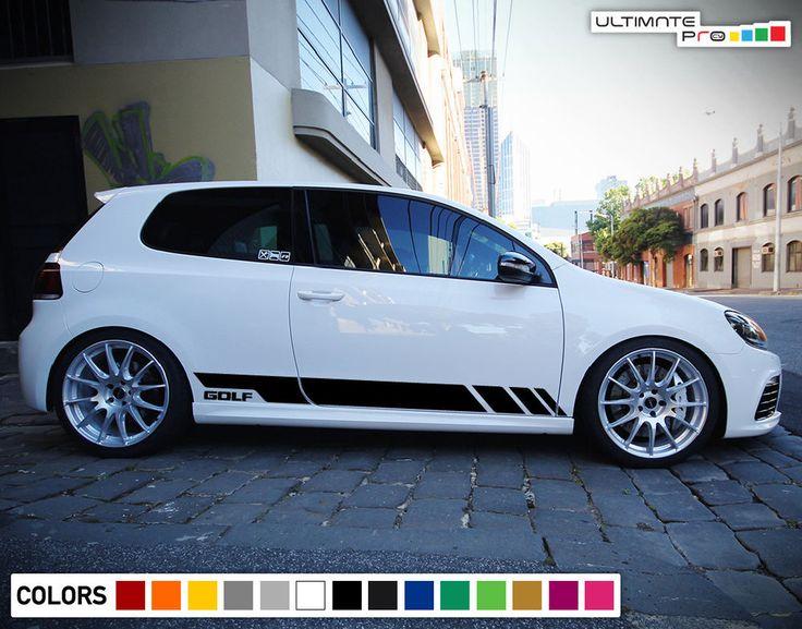 Sticker Decal Vinyl Side Door Stripes for Volkswagen Golf MK6 GTI R Sport Skirt #ultimateprocy1