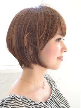 40 代 髪型 ショート ボブ 40代のショートボブヘアスタイル・髪型:前髪あり・前髪なし・面長・...