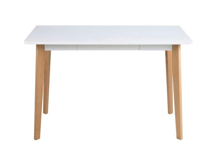 LISETTE Skrivbord 117 Björk/Vit i gruppen Inomhus / Kontor / Skrivbord hos Furniturebox (100-90-105080)