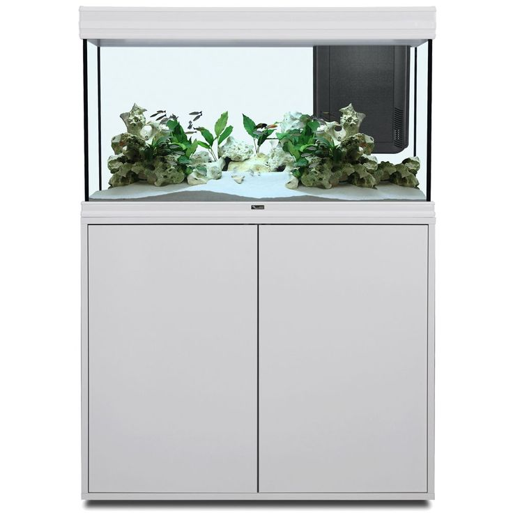 Animalerie  Ensemble aquarium/sous-meuble Aquatlantis Fusion 100 LED  blanc