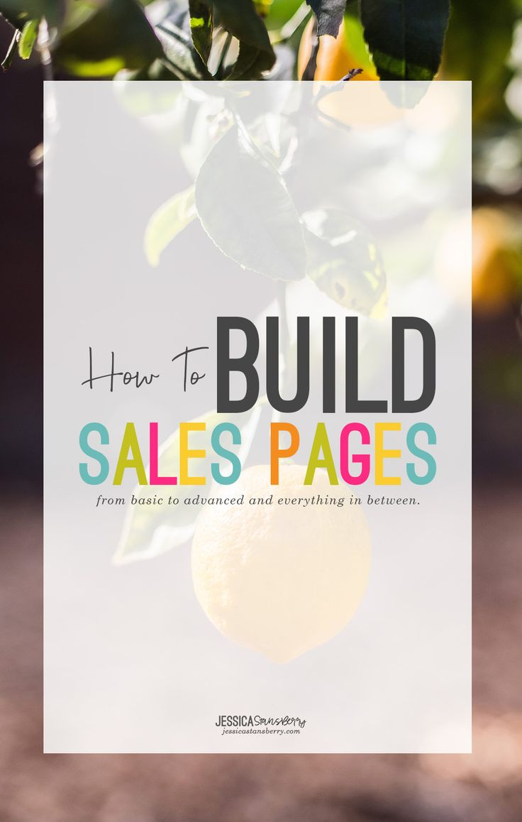 how to build sales pages by Jessica Stansberry