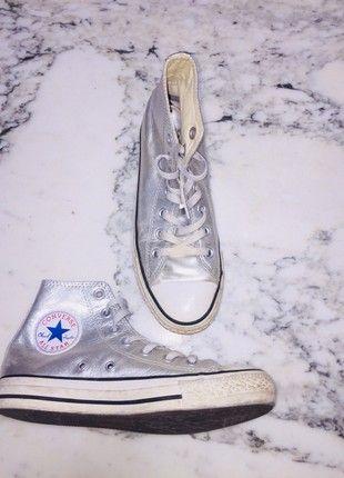 7ba251d7754 À vendre sur  vintedfrance ! http   www.vinted .fr chaussures-femmes chaussures-plates 56468678-converse-gris-metalic