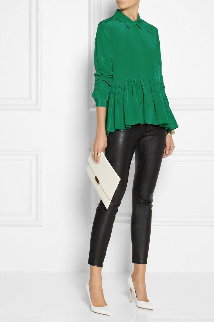 Tibi | Silk crepe de chine blouse | NET-A-PORTER.COM