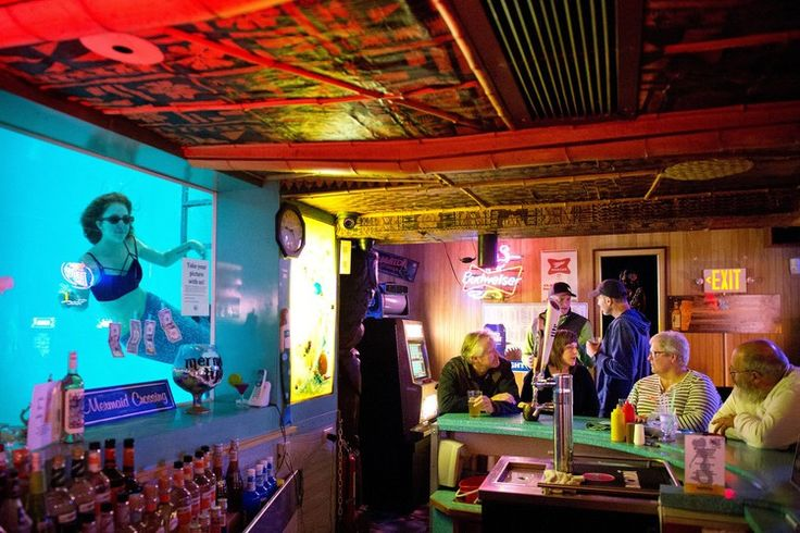 Welcome to the Campiest Place on Earth, Sip N Dip Tiki lounge, Great Falls, Montana with its own mermaids