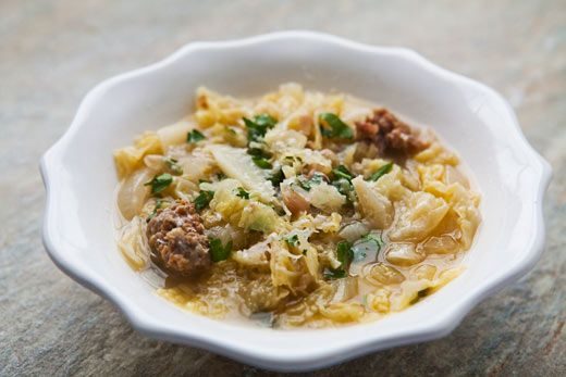 Italian Sausage and Cabbage Stew on SimplyRecipes.com