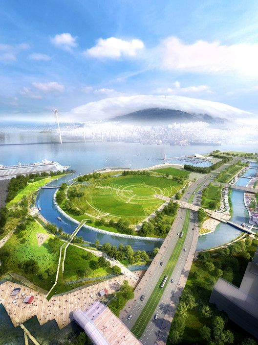 SYNWHA Consortium Wins Competition to Design Waterfront Park for Busan North Port,Nomad Park. Image Courtesy of SYNWHA Consulting