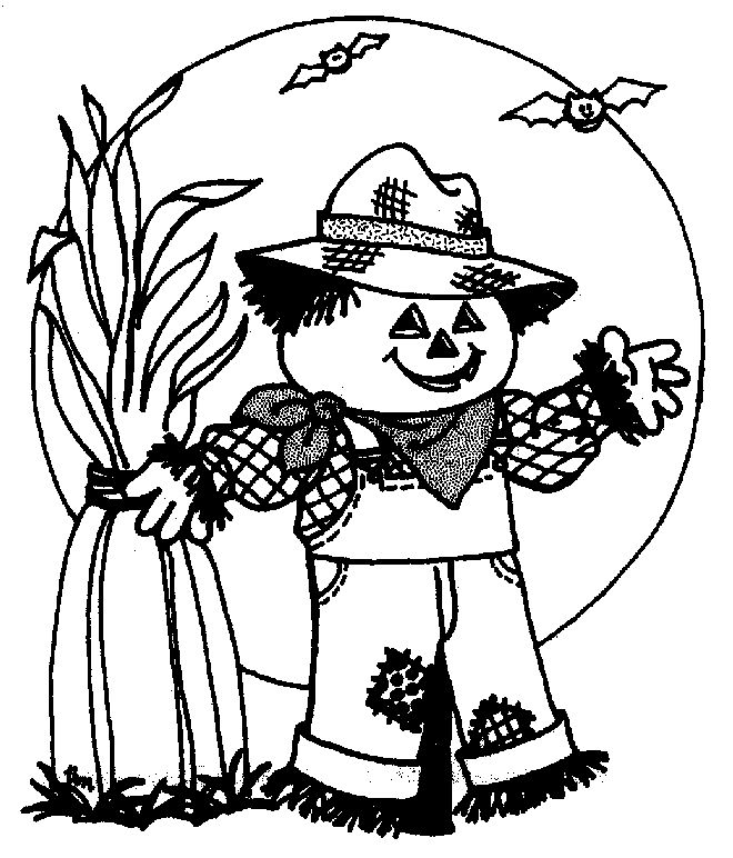 scary halloween coloring page scary scarecrow moon free printable halloween coloring page sheets