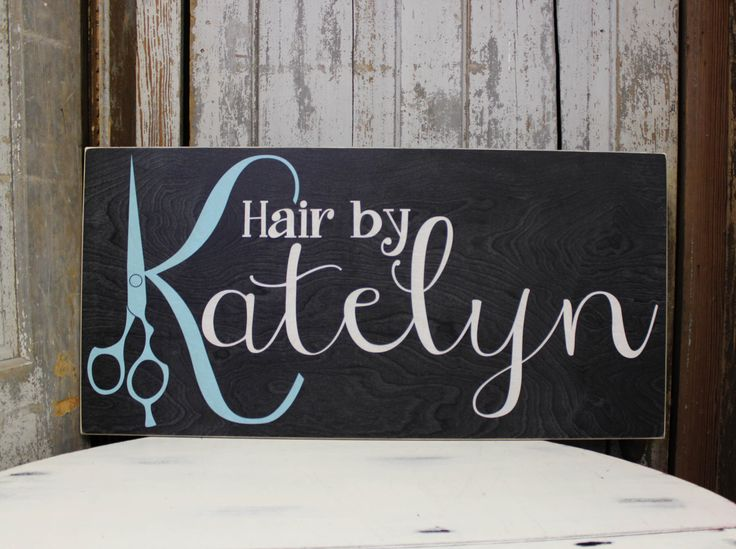Business Sign with Custom Logo, Handmade Business sign for Retail, Jeweler, Photographer, Small Business, Personalized Hair Salon Sign by MadiKayDesigns on Etsy