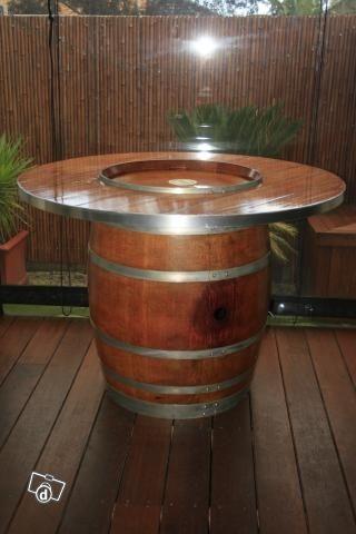 17 Best ideas about Wine Barrel Table on Pinterest  Whiskey barrel table,  Wine barrel coffee table and Barrel table