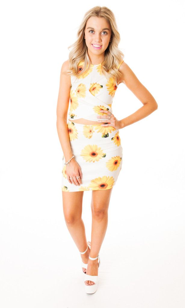 sunflower print dress Click to buy now
