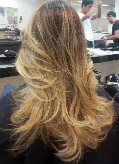 cabelos com mechas loiras balaiagem                                                                                                                                                      Mais