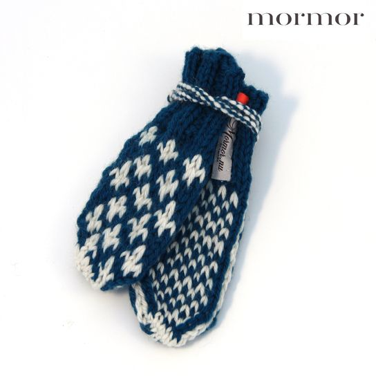 mormor.nu Mittens Knud petrol brown grey yellow red darkblue. High quality knitwear for children. Danish design made in Denmark #babyclothing #kidsclothing #warmclothes #softknit #highlandwool