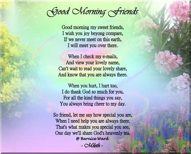 My sweet friend poem