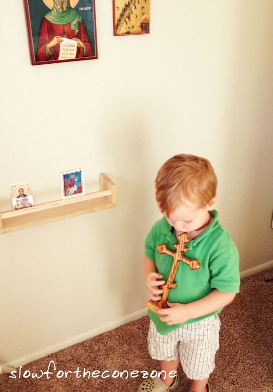 Children's Orthodox Icon Prayer Corner