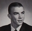 "Actor Tom Selleck in his 1962 ""Shield"" yearbook at Grant High School in Van Nuys, California"