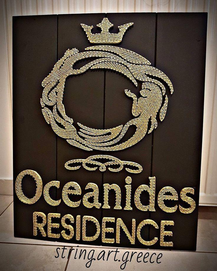 """255 """"Μου αρέσει!"""", 1 σχόλια - Η ΤΕΧΝΗ ΤΗΣ ΚΛΩΣΤΗΣ-String.Art (@string.art.greece) στο Instagram: """"Ευχαριστουμε πολυ το oceanides residence koufonisia. Διάσταση:60χ70 #stringart #wood #work #art…"""""""