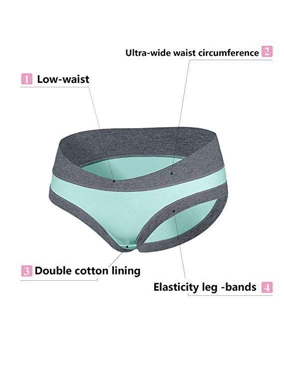 82f25a20e2b66 Odosalii Women Under The Bump Maternity Knickers Pregnant Postpartum Briefs  Panties Underwear: Amazon.co