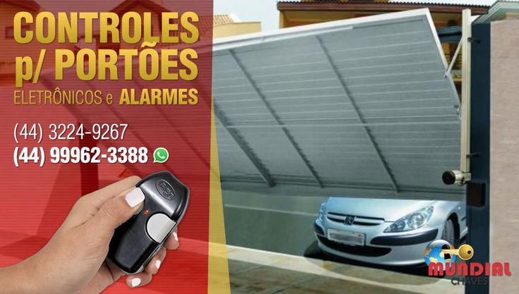 Venda e conserto de CONTROLES para PORTÕES ELETRÔNICOS e ALARMES é com a MUNDIAL CHAVES Maringá.  FAÇA seu serviço com quem ENTENDE!  Ligue: (44) 3224-9267 ou (44) 99962-3388 (whatsapp) Site: www.mundialchavesmaringa.com.br Endereço: Rua Paranaguá, 155 (Sl 02), Zona 7, Maringá/PR